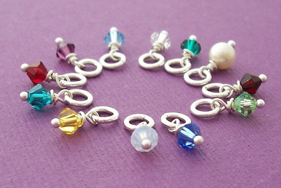Swarovski Crystal Birthstone Charm in Sterling Silver - EWD Extras and Add Ons