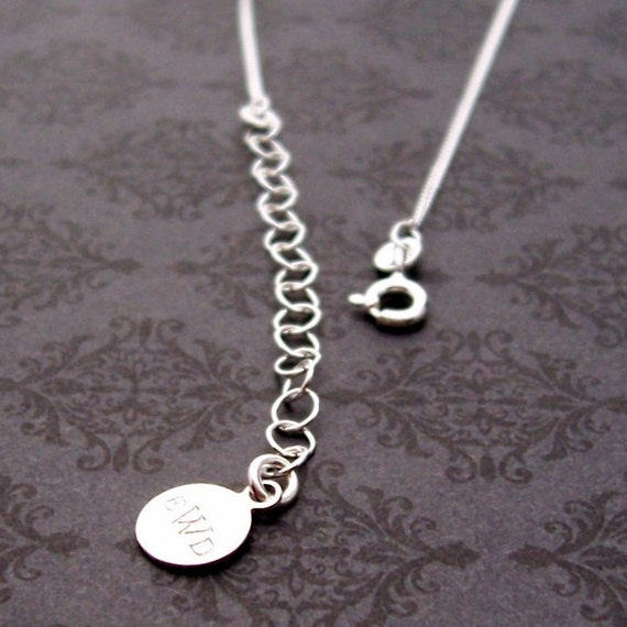 Sterling Silver Necklace Extension Chain - FOUR INCH Chain Extension - EWD Extras and Add-ons