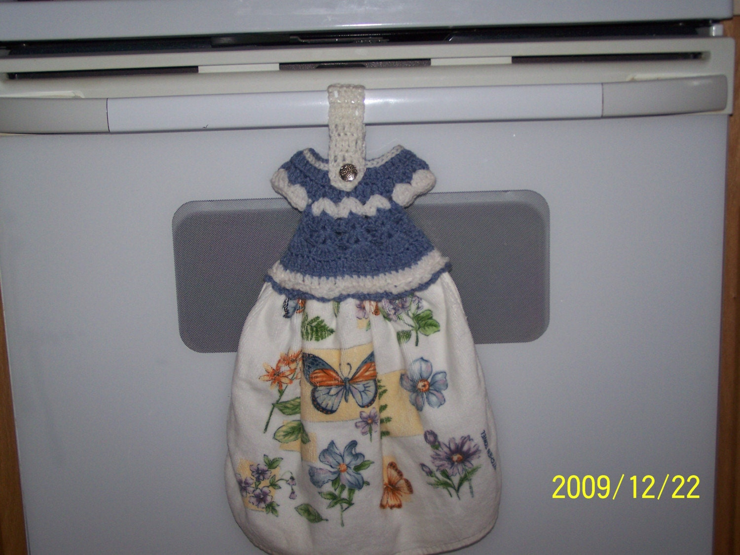 Crocheted towel topper doll dress by creationsrus2008 on etsy