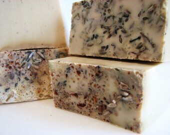 SOAP- Lavender Patchouli Handmade Soap made w/real Lavender, Patchouli and Herbs- Soap Gift