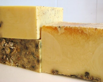 SOAP- Lemon Soap with Chamomile - Handmade Soap - Vegan Soap- Soap Gift