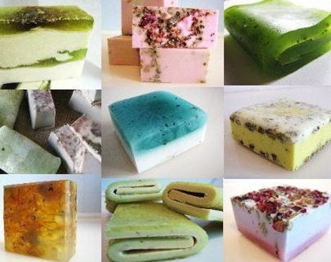 SOAP -15 Handmade Soaps - vegan friendly - unique assorted soap, make great gifts