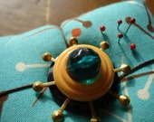 Atomic Pincushion for Sewing or Jewelry (Vintage Vibe)