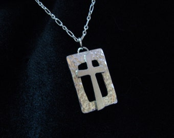 Sterling Silver Box Cross Necklace