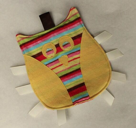 Owl Taggie Sensory Toy - Sunny Stripes