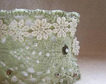 Jane Austen. Embellished Lace Fabric Cuff.