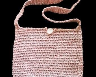 Pink Crochet Purse