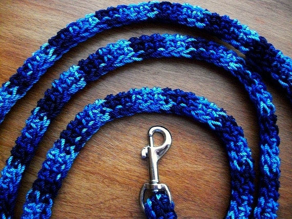 Blue Dog Leash for Small Dogs in a Six Foot Length