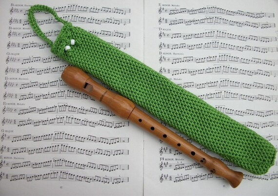 soprano recorder case green