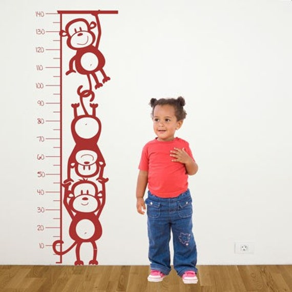 Monkey Height Chart - Wall Decal