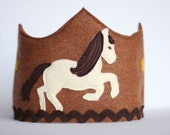 Horse Felt Crown