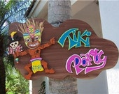 Tropical Tiki Party Wood Sign