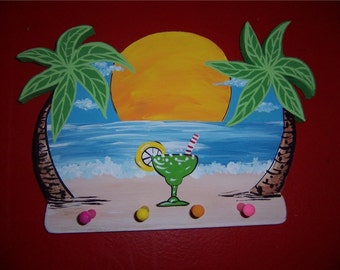 Tropical Margarita Palm Beach Key Rack Holder