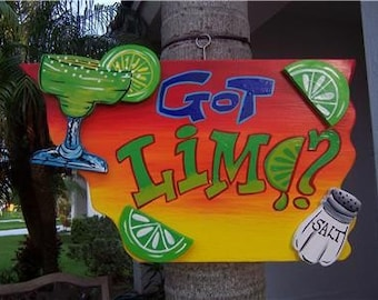 Tropical Got Lime Tiki Bar Sign