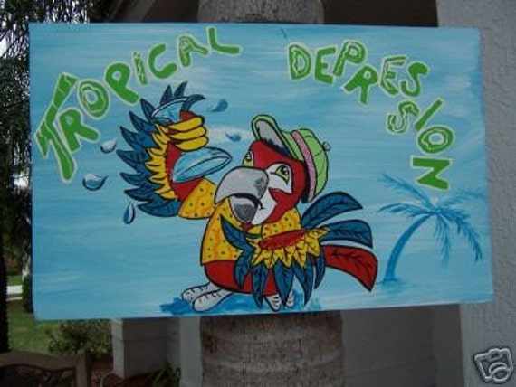 Tropical Depression Parrot Wood Sign By Dreamcreationsart. Hand Crafted Wooden Signs. Red Blue Signs Of Stroke. 17 Week Signs. Kidney Cancer Signs Of Stroke. Teaching Body Language Signs. Female Signs Of Stroke. Creative Signs Of Stroke. Wild Signs