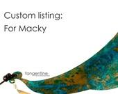 Custom listing: For Macky