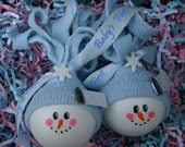Snowbaby Ornament Snowman Twins Boys