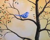 Bluebird art print ... Chorus of One -- 8 x 10 Glossy Print