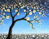 Tree Art print ... 8 x 10 Glossy Giclee Print -- Kissing Tree, from my original painting