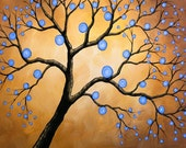 Fun tree art prints ... 8 x 10 ... Day In the Sun, from my original p[ainting, by Amy Giacomelli