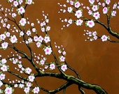 Cherry Blossoms art print ... Secret Garden -- 8 x 10 giclee from my original painting