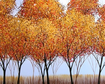 8 x 10 art print ... Colors of the Season -- Giclee Print, from my original painting by Amy Giacomelli