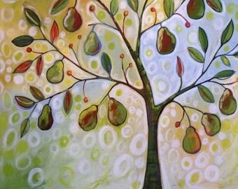 Tree art print ... Pear Tree -- 8 x 10 Glossy Print, from an original painting