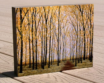 "Tree art print mounted to a deep birch panel...ready to hang...""Long Way Home"", by Amy Giacomelli, Christmas or birthday gift"