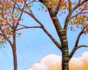 Small art painting print ... Blue Sky Day -- 8 x 10 Glossy Print, from my original painting by Amy Giacomelli