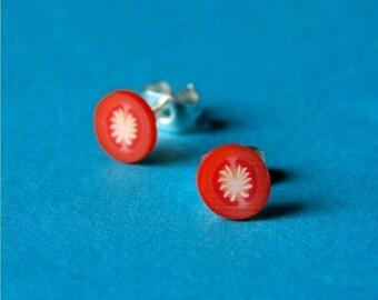 Miniature Tomato Slice Stud Earrings - Tasty Tomato Slices