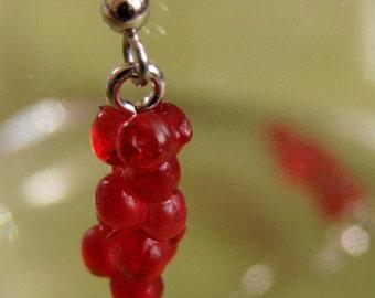 Miniature Cherry Dangle Earrings - Maraschino Mama Danglies