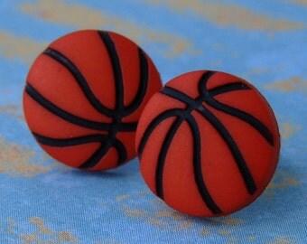 Miniature Basketball Earrings - For the brazen basketball babe...