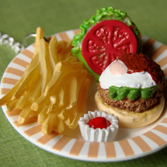 Necklace - Mmmmm... Burger and Fries