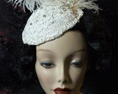 Flapper Cocktail Bridal Hat