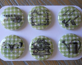 Gardening-Decorative MAGNETS-set of Six (6)