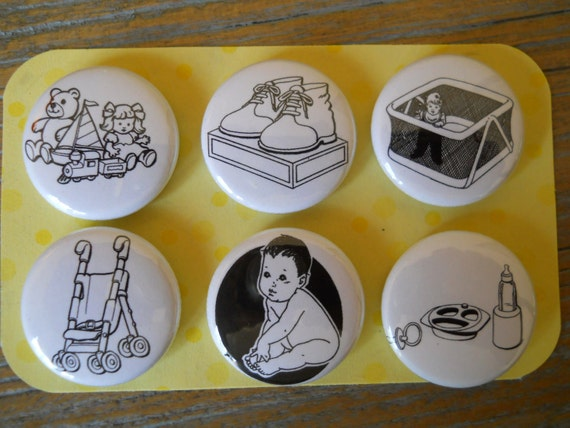 Baby-Decorative MAGNETS-set of Six (6)