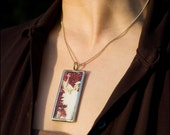 Red - A Two sided photo pendant