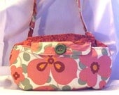 SALE, price includes shipping Rust paisley handbag with Amy Butler floral highlights