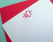 Abigail notecards - monogram - set of 12