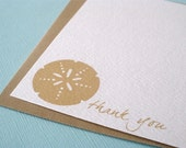 sand dollar note cards - set of 12 personalized