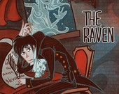 The Raven Edgar Allen Poe 8x12 mini poster