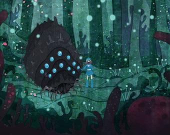 Corrupted Forest Nausicaa miyazaki 11x14 poster print