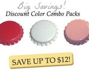 150 V-Day Pack - Red, White and Light Pink Bottlecap Valentines Day Package