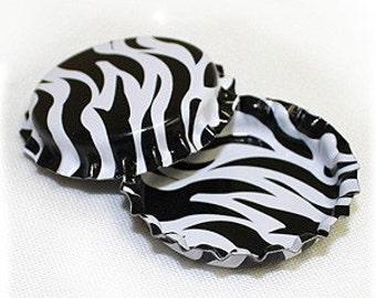 50 Zebra Print ON BOTH SIDES Blank Bottlecaps Bottle Cap Bottlecap Caps Colored Embellishment Craft
