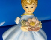 Vintage Napcoware October  Flower  Girl Figurine