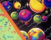 Big Balloons on Black Pillowcase