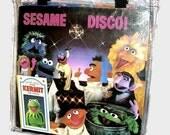 Retro Vintage Sesame Street Disco Vinyl Record Album Bag