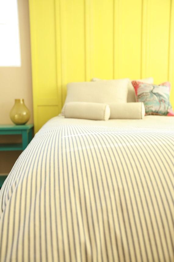 Vintage Ticking Stripe Duvet Comforter Cover Custom Size