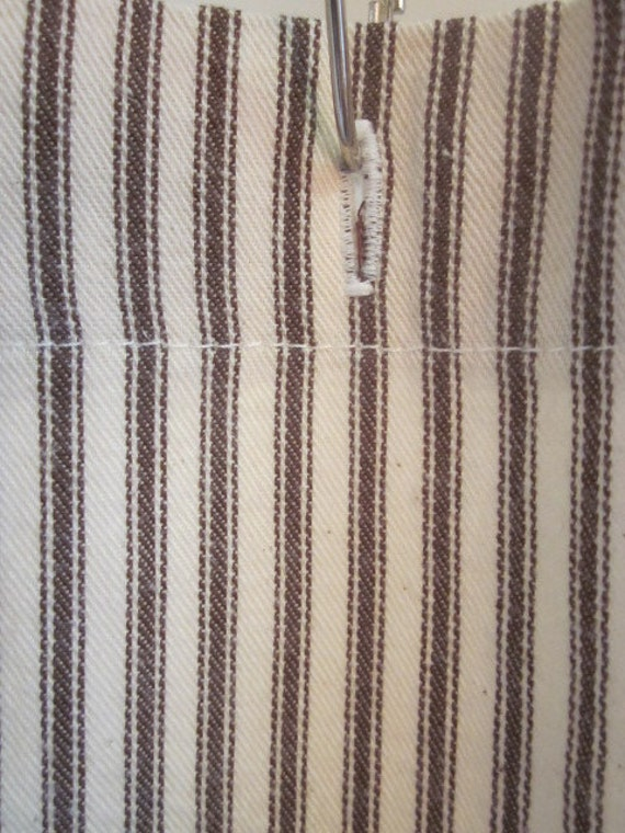 Ticking Stripe Shower Curtain with by SouthernTickingCo on Etsy