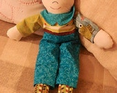 Rag Doll-Little Boy Andy-Quilt Fabrics  (Order by Request)